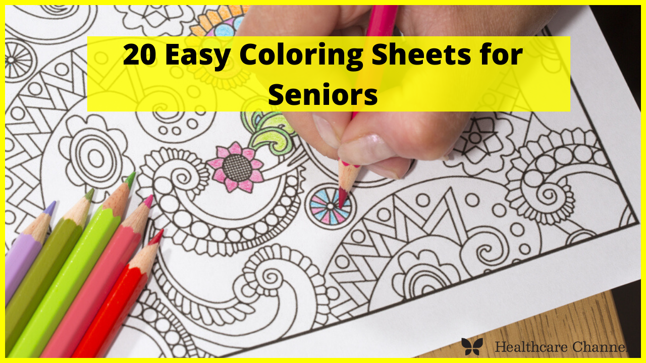 10 Easy Coloring Sheets for Seniors   Healthcare Channel Aged Care